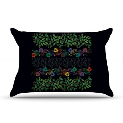 Famenxt Dark Jungle Pillow Case
