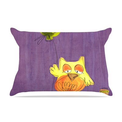 Carina Povarchik 'Owl Balloon' Pillow Case