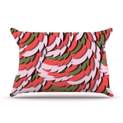 Akwaflorell Wings Pillow Case Color: Green/Red