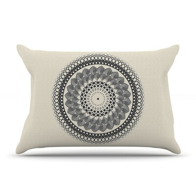 Famenxt Black & Boho Mandala Geometric Pillow Case Color: Black/White