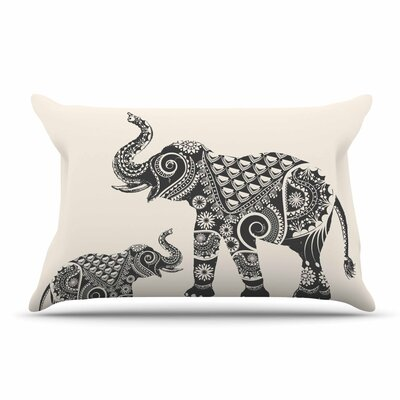 Famenxt Ornate Indian Elephant-Boho Pillow Case