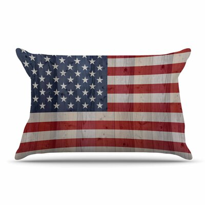 Bruce Stanfield Usa Flag On Spruce Pillow Case