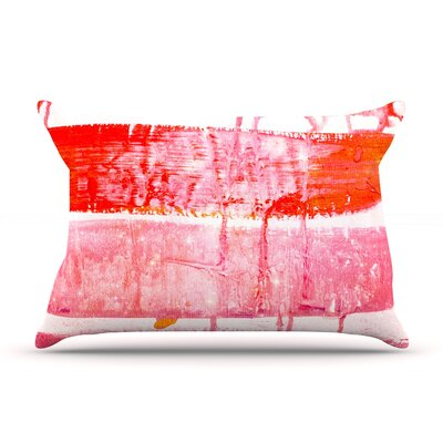 Iris Lehnhardt Coral Paint Wash Pillow Case