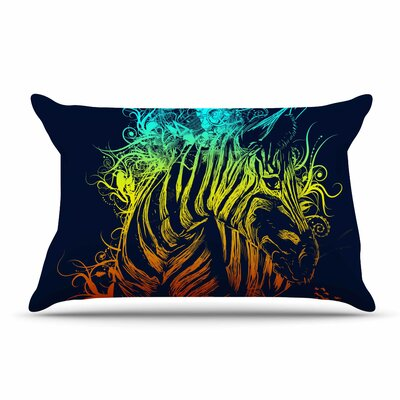 Frederic Levy-Hadida Wild Nature Rainbow Zebra Pillow Case