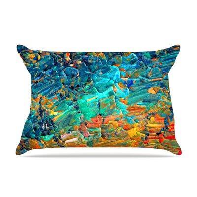 Ebi Emporium Eternal Tide Pillow Case Color: Teal/Orange