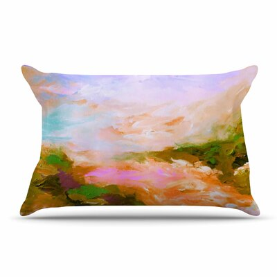 Ebi Emporium Taken By The Undertow 4 Pillow Case Color: Pink/Orange