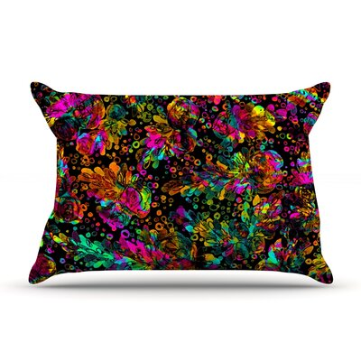 Ebi Emporium Prismatic Posy Ii Rainbow Floral Pillow Case Color: Rainbow