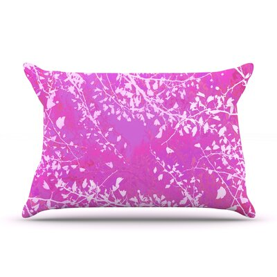Iris Lehnhardt Twigs Silhouette Pillow Case Color: Pink