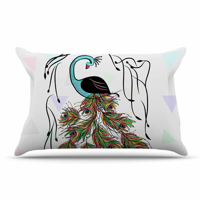 Famenxt Colorful Peacock Pillow Case