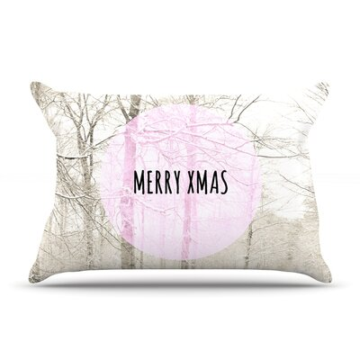 Iris Lehnhardt Merry Xmas Holiday Pillow Case