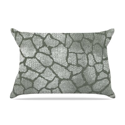 Heidi Jennings Gray Snake Skin Pillow Case