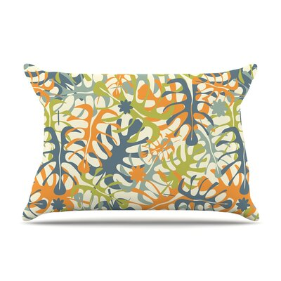 Julia Grifol Summer Tropical Leaves Pillow Case