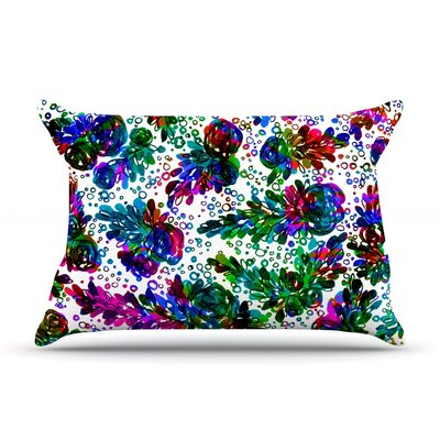 Ebi Emporium Prismatic Posy Ii Rainbow Floral Pillow Case Color: Light Rainbow