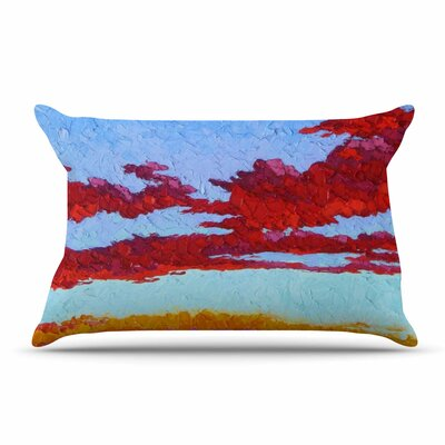 Jeff Ferst Spring Sunset Over Wildflowers Pillow Case