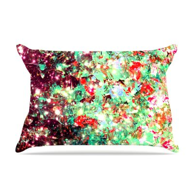 Ebi Emporium Midnight Serenade Pillow Case Color: Red/Green