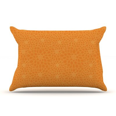 Julia Grifol Flowers Pillow Case Color: Orange