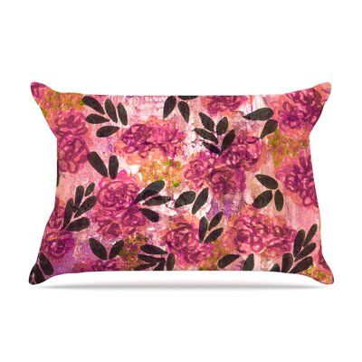 Ebi Emporium Grunge Flowers Ii Floral Pillow Case Color: Pink
