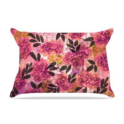 Ebi Emporium Grunge Flowers Ii Floral Pillow Case Color: Pink