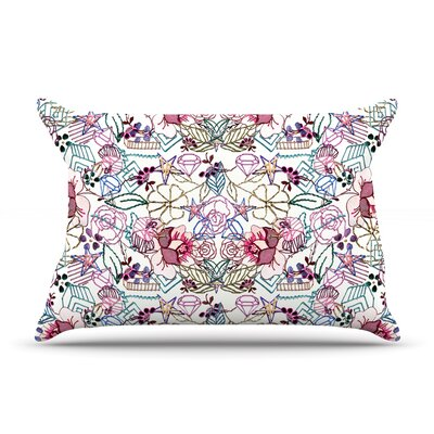 DLKG Design Cool Stitch White Blush Pillow Case