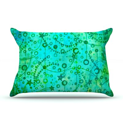 Ebi Emporium Make A Wish Pillow Case Color: Teal/Green