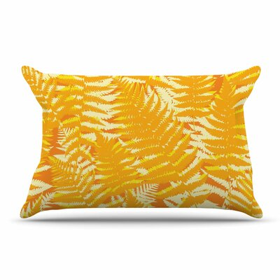 Jacqueline Milton Fun Fern Pillow Case Color: Orange/Citrus
