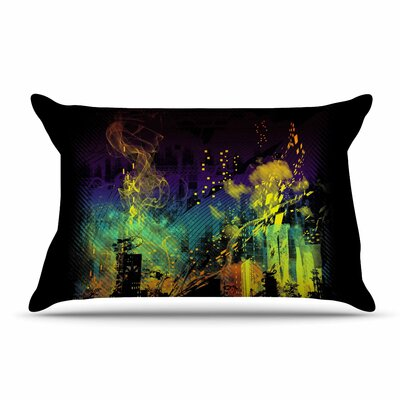 Federic Levy-Hadida City Grid Rainbow Pillow Case