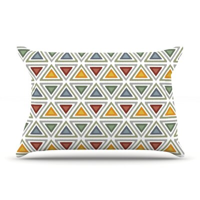 Julia Grifol Ikat Triangles Pillow Case