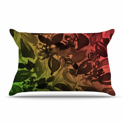 Ebi Emporium Blossoms Unchained 3 Coral Pillow Case