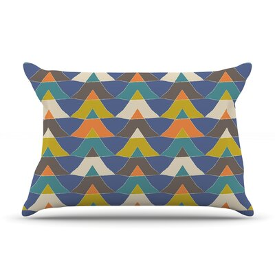 Julia Grifol Colorful Triangles Pillow Case