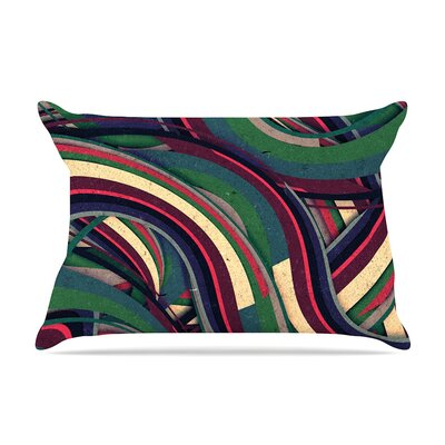 Danny Ivan Swirl Madness Dark Geometric Pillow Case
