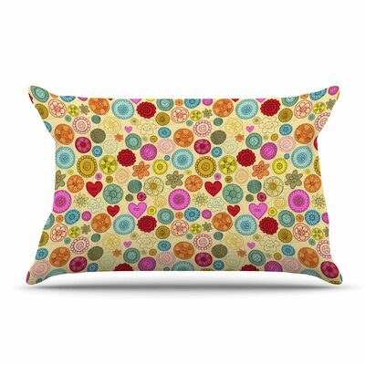 Jane Smith Vintage Buttons Polkadot Pillow Case