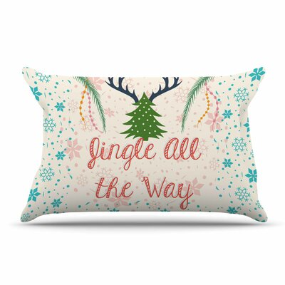 Famenxt Jingle All The Way Holiday Digital Pillow Case