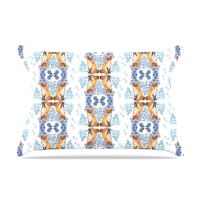 DLKG Design Red Fox In Snow Pillow Case