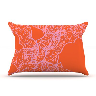 Patternmuse Mandala Lemon Pillow Case Color: Orange
