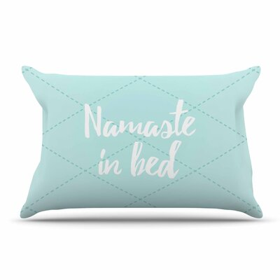 Namaste In Bed Pillow Case Color: Teal