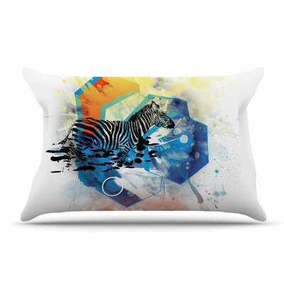 Frederic Levy-Hadida Walk Off The Colors Zebra Pillow Case
