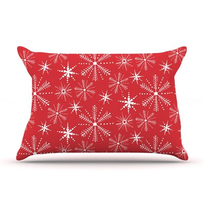 Julie Hamilton Snowflake Berry Holiday Pillow Case