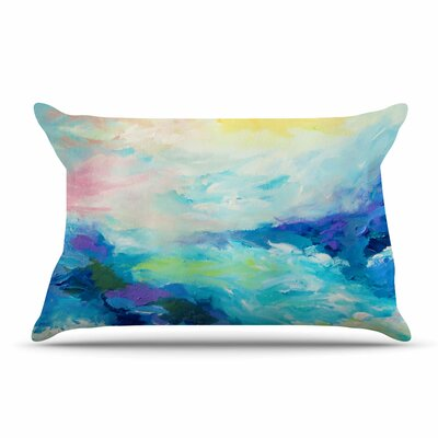 Ebi Emporium Taken By The Undertow 4 Pillow Case Color: Green/Blue