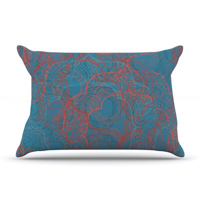 Patternmuse Mandala Lemon Pillow Case Color: Blue