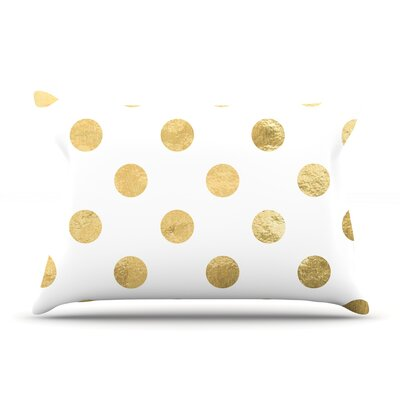 Golden Dots Pillow Case Color: Gold
