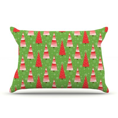 Julie Hamilton Juniper Christmas Trees Pillow Case