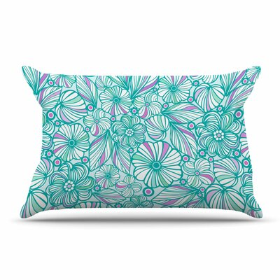 Julia Grifol My Turquoise Flowers Pillow Case