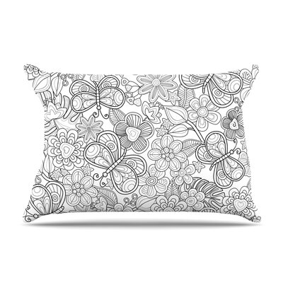 Julia Grifol My Butterflies And Flowers In Black Pillow Case