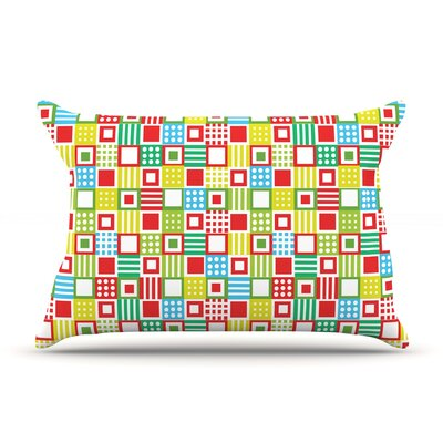 Julie Hamilton Colorful Check Checkered Pillow Case