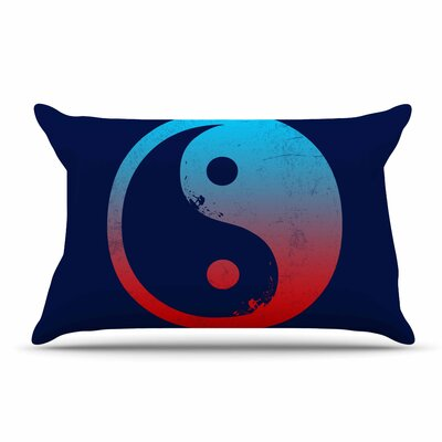 Federic Levy-Hadida Ying Yang Surfers Pillow Case