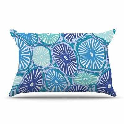 Jacqueline Milton Sea Coral - Blue Pillow Case
