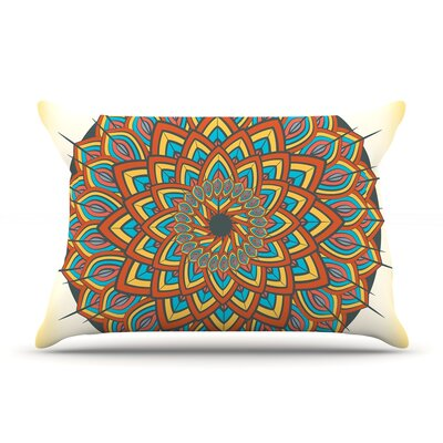 Famenxt Floral Mandala Geometric Pillow Case