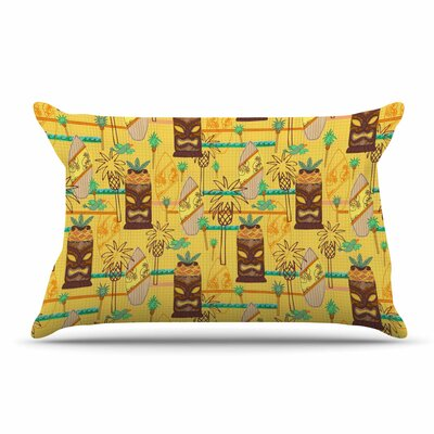 Jane Smith Surfing Tiki Pillow Case