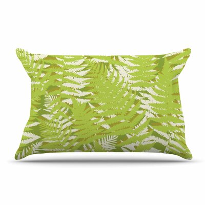 Jacqueline Milton Fun Fern Pillow Case Color: Green