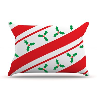 Holiday Holly Christmas Holiday Pillow Case